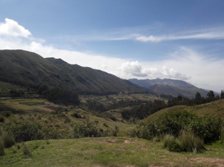 10minutes out of Cusco, and a taste of the views to come.