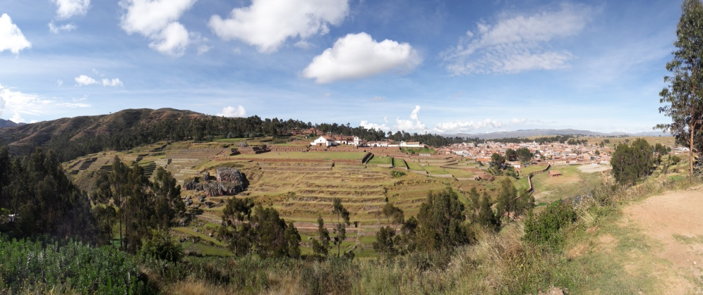 View over the terrances at Chinchero